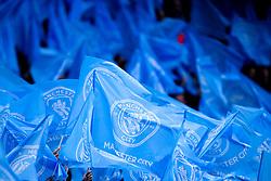 Manchester City fags - Mandatory by-line: Robbie Stephenson/JMP - 17/04/2019 - FOOTBALL - Etihad Stadium - Manchester, England - Manchester City v Tottenham Hotspur - UEFA Champions League Quarter Final 2nd Leg