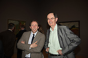 DAVID DAWSON; RICHARD CORK, Frank Auerbach openeing, Tate Britain. London.. 8 October 2015