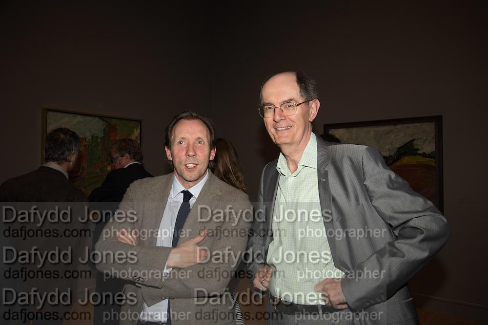 DAVID DAWSON; RICHARD CORK, Frank Auerbach openeing, Tate Britain. London.. 8 October 2015