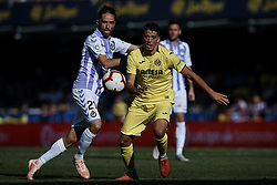 September 30, 2018 - Villarreal, Castellon, Spain - Pablo Fornals (R) of Villarreal CF competes for the ball with Michel of Real Valladolid during the La Liga match between Villarreal CF and Real Valladolid at Estadio de la Ceramica on September 30, 2018 in Vila-real, Spain  (Credit Image: © David Aliaga/NurPhoto/ZUMA Press)