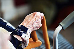 Elderly woman in a care home UK