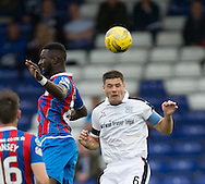 Dundee&rsquo;s Darren O&rsquo;Dea heads clear from Inverness&rsquo; Lonsana Doumbouya - Inverness Caledonian Thistle v Dundee in the Ladbrokes Scottish Premiership at Caledonian Stadium, Inverness. Photo: David Young<br /> <br />  - &copy; David Young - www.davidyoungphoto.co.uk - email: davidyoungphoto@gmail.com