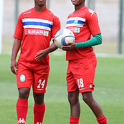 Thembela Sikhakhane  with Somila Nsundwayo of AmaZulu during the Absa Premiership AmaZulu FC Media Open Day,17 August 2017 in Durban, South Africa. (Photo by Steve Haag)
