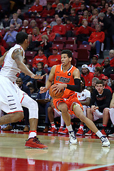 10 December 2016:  Deontae Hawkins(23) challenges Chandler Rowe during an NCAA  mens basketball game between the UT Martin Skyhawks and the Illinois State Redbirds in a non-conference game at Redbird Arena, Normal IL