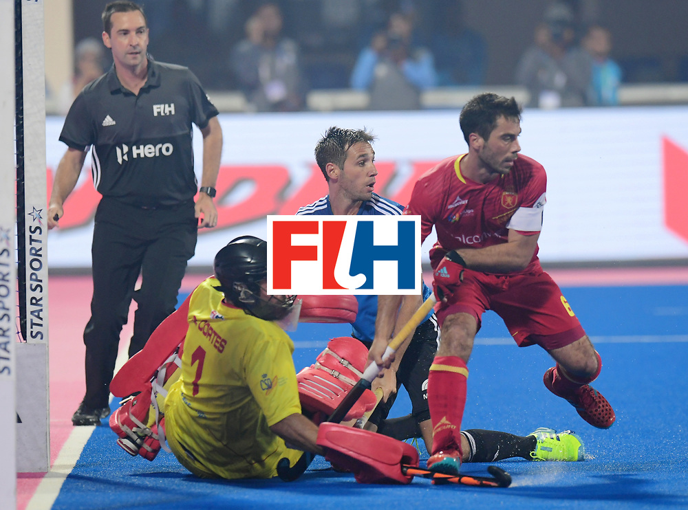 Odisha Men's Hockey World League Final Bhubaneswar 2017<br /> Match id:11<br /> Argentina v Spain<br /> Foto: keeper Quico Cortes (Esp) <br /> COPYRIGHT WORLDSPORTPICS FRANK UIJLENBROEK
