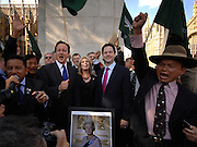 29/04/2009 Joanna Lumley leads the victory celebrations as the Gurkhas finally win their 200-year battle to live in Britain..