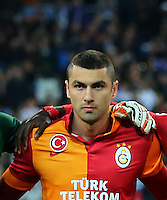 UEFA Champions League Quarter Final first leg match between Real Madrid and Galatasaray at Estadio Santiago Bernabeu on April 3, 2013 in Madrid, Spain.<br /> Pictured: Galatasaray team photo.
