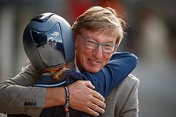 Cornelissen Adelinde, Korbeld Gerard, owner of Governor<br /> Longines FEI/WBFSH World Breeding Dressage Championships for Young Horses - Ermelo 2017<br /> © Hippo Foto - Dirk Caremans<br /> 06/08/2017