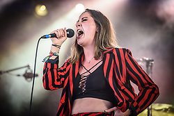 © Licensed to London News Pictures. 25/08/2017. Reading Festival 2017, Reading, UK. Yonaka performs at Reading Festival 2017. Pictured: Theresa Jarvis - Vocals<br /> Photo credit: Andy Sturmey/LNP