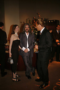 HONEY WALKER, PAUL MCALVOY AND RICHARD RILEY, Champagne reception celebrating 100 years of Chinese cinema  hosted by Hamish McAlpine of Tartan Films, Raising money for Care For Children, a foster care programme in China. Aspreys. New Bond St. London. 25 April 2006. ONE TIME USE ONLY - DO NOT ARCHIVE  © Copyright Photograph by Dafydd Jones 66 Stockwell Park Rd. London SW9 0DA Tel 020 7733 0108 www.dafjones.com
