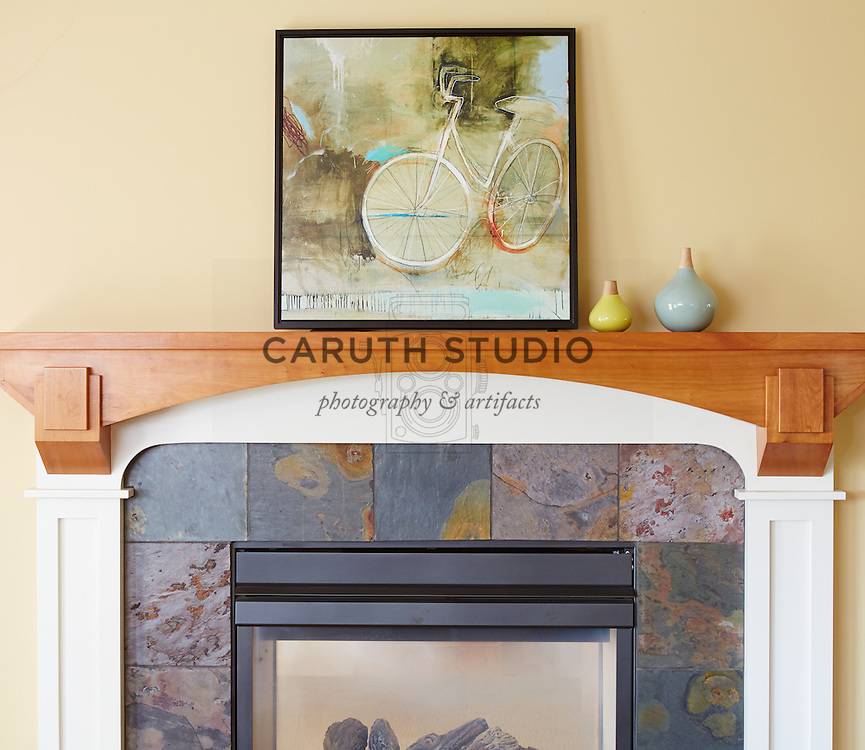 How to Style a Mantel: Add colorful objects