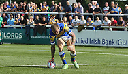 Luke Briscoe of Leeds Rhinos scores the try against London Broncos during the Super 8s Qualifiers match at Trailfinders Sports Club, Ealing<br /> Picture by Stephen Gaunt/Focus Images Ltd +447904 833202<br /> 19/08/2018