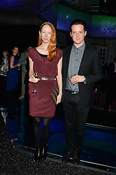 MORWENNA LYTTON COBBOLD and her brother EDWARD LYTTON COBBOLD at the Warner Music Group & Belvedere BRIT Awards After Party held at The Savoy, London on 19th February 2014.