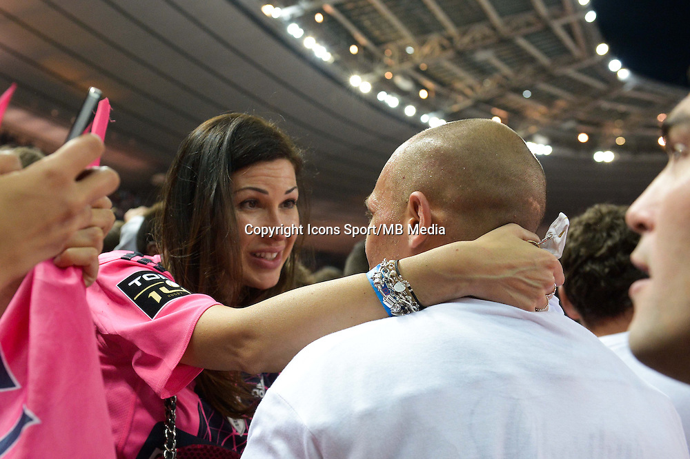 Sergio PARISSE et sa compagne Silvia BRAGAZZI  - 13.06.2015 - Clermont / Stade Francais - Finale Top 14<br />Photo : Nolwenn Le Gouic / Icon Sport