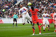 Rafael of Lyon and Romain Genevois of Caen during the French Championship Ligue 1 football match between Olympique Lyonnais and SM Caen on march 11, 2018 at Groupama stadium in Decines-Charpieu near Lyon, France - Photo Romain Biard / Isports / ProSportsImages / DPPI