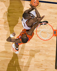 Virginia guard/forward Mamadi Diane (24) shoots against Clemson.  The Virginia Cavaliers men's basketball team fell the Clemson Tigers at 82-51 the John Paul Jones Arena in Charlottesville, VA on February 7, 2008.