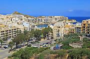 Apartment housing property development at coastal resort, Marsalforn, island of Gozo, Malta