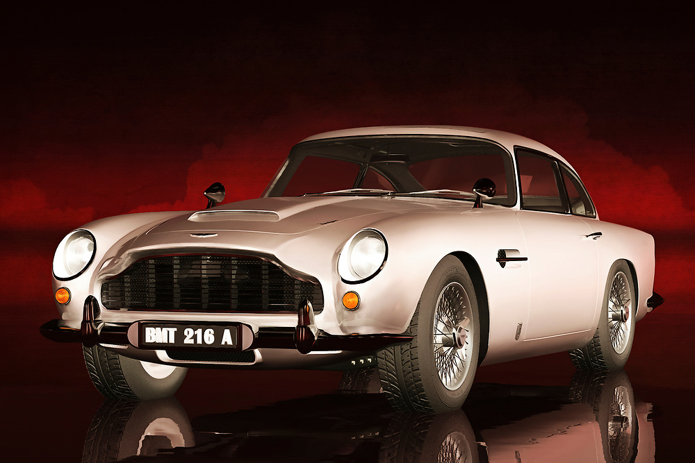 When people think about the Aston Martin, they tend to think of James Bond. You are certainly going to imagine the best elements of those iconic films, when you check out everything this acryl on canvas has to offer. If you have ever driven one of these cars before, then you should be able to appreciate why these vehicles continue to captivate those who love adventure. This is a car that means adventure, but it is also a profoundly sophisticated piece of machinery. This piece is available as wall art, t-shirts, or as interior décor products.<br /> <br /> About car: The Aston Martin DB5 is a British luxury grand tourer that was made by Aston Martin and designed by the Italian coachbuilder Carrozzeria Touring Superleggera. Released in 1963, it was an evolution of the final series of DB4. The DB series was named honouring Sir David Brown (the head of Aston Martin from 1947 to 1972). Although not the first, the DB5 is famous for being the most recognised cinematic James Bond car, first appearing in Goldfinger (1964). .<br /> <br /> BUY THIS PRINT AT<br /> <br /> FINE ART AMERICA<br /> ENGLISH<br /> https://janke.pixels.com/featured/aston-martin-db5-jan-keteleer.html<br /> <br /> <br /> WADM / OH MY PRINTS<br /> DUTCH / FRENCH / GERMAN<br /> https://www.werkaandemuur.nl/nl/shopwerk/Klassieke-auto--oldtimer-Aston-Martin-DB5/435958/134