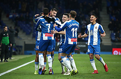 January 4, 2019 - Barcelona, Spain - Borja Iglesias goal delebration during the match between RCD Espanyol and CD Leganes, corresponding to the week 18 of the Liga Santander, played at the RCDE Stadium on 04th January 2019 in Barcelona, Spain. (Credit Image: © Joan Valls/NurPhoto via ZUMA Press)
