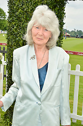 JILLY COOPER at the Cartier Queen's Cup Final 2016 held at Guards Polo Club, Smiths Lawn, Windsor Great Park, Egham, Surry on 11th June 2016.