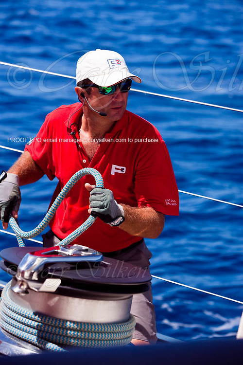 Sailing onboard P2 in preparation for the 2010 St. Barth's Bucket Regatta.