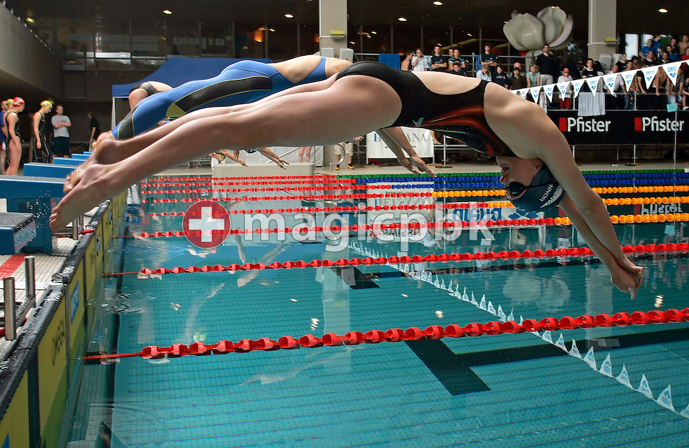 Start swimmer Megan Faye CONNOR of Australia from SC Uster-Wallisellen starts in the women's 4x100m freestyle relay  in the Hallenbad Oerlikon at the Swimming Swiss Championships in Zurich, Switzerland, Friday 11 May 2007. (Photo by Patrick B. Kraemer / MAGICPBK)