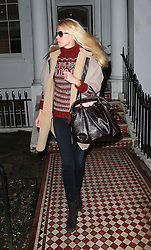 Claudia Schiffer visits a private Dental Practice in south west London. The supermodel was picked up by her husband Matthew Vaughn. UK. 06/02/2013<br />
