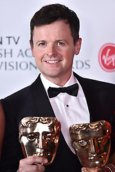 Declan Donnelly with the BAFTA for Entertainment Programmes for BGT, at the Virgin TV British Academy Television Awards 2018 held at the Royal Festival Hall, Southbank Centre, London.