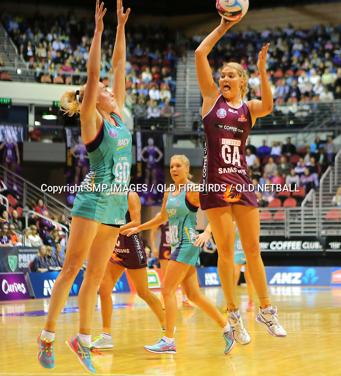 GRETEL TIPPETT (QLD FIREBIRDS) PHOTO: SMP IMAGES / QLD FIREBIRDS MEDIA - 4th Jun 2016 - Action from the 2016 ANZ Championships Round 10 clash between the Queensland Firebirds v Melbourne Vixens played at the Gold Coast Convention Centre, Australia.<br /> <br /> Photo: SMP IMAGES / FIREBIRD MEDIA