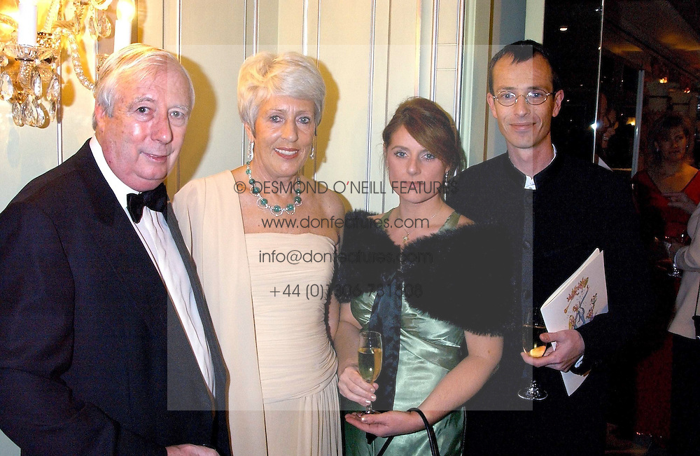 Left to right, LORD HARRIS OF PECKHAM, his wife DAME PAULINE HARRIS and MARTIN & ZOE HARRIS he is the son of Lord Harris of Peckham at the Dyslexia Awards Dinner attended by HRH The Countess of Wessex held at The Dorchester Hotel, Park Lane, London on 9th November 2005.<br /><br />NON EXCLUSIVE - WORLD RIGHTS