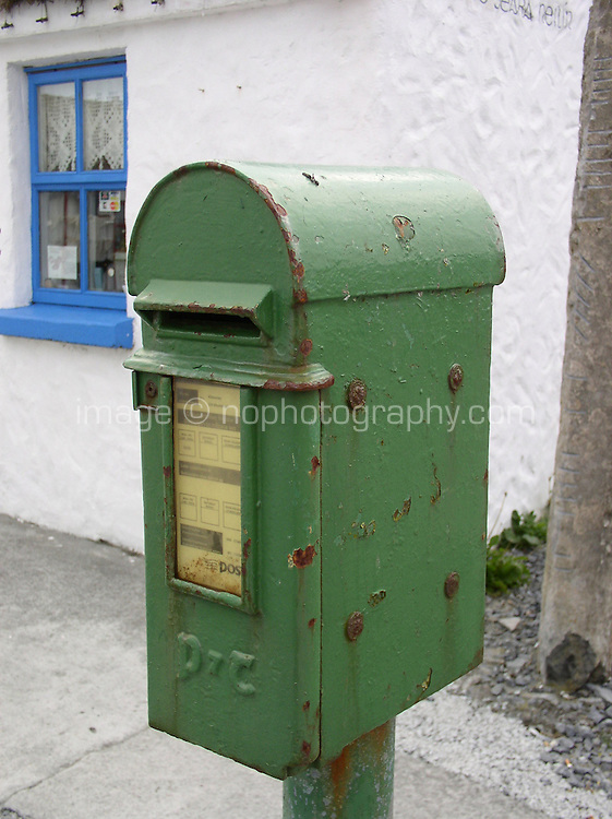 Old post box, Inis Mor, the Aran Islands, County Galway, Ireland