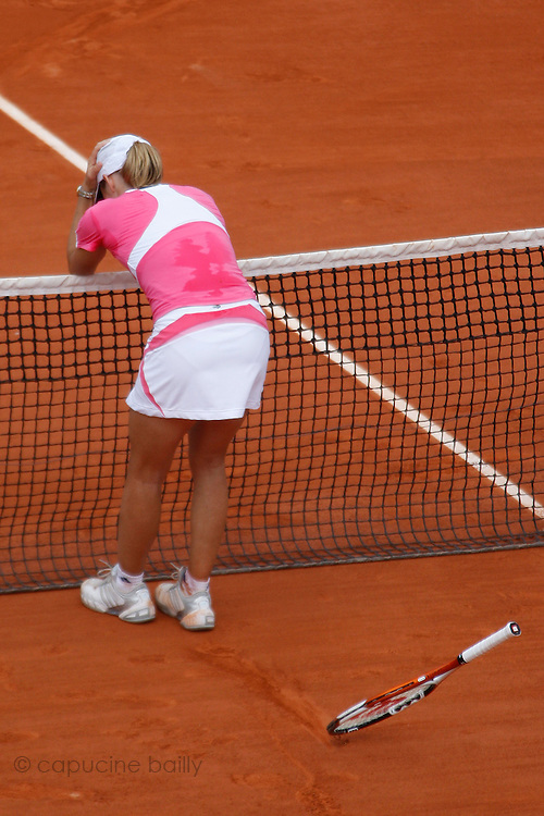 Roland Garros. Paris, France. June 9th 2007..Women's Final..Justine HENIN against Ana IVANOVIC.