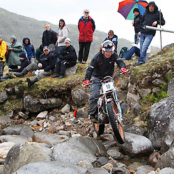 armando ugarde spain tries hard to negotiate the heavy boulders on the lagnaha section near duror in argyll.  The six day trial pits man and machine against the heavy highland terrain with the winner having he best times on each of the stages at the end of the six days. picture kevin mcglynn | STOCKPIX