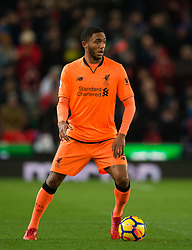 STOKE-ON-TRENT, ENGLAND - Wednesday, November 29, 2017: Liverpool's Joe Gomez in action during the FA Premier League match between Stoke City and Liverpool at the Bet365 Stadium. (Pic by Peter Powell/Propaganda)
