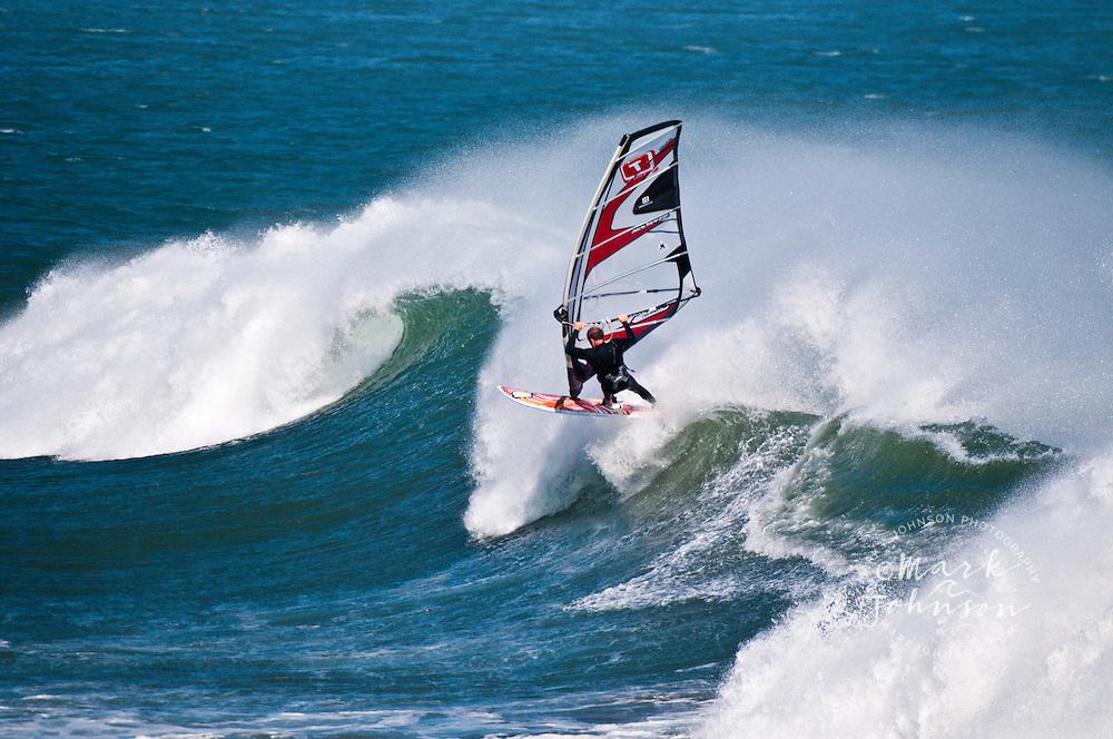 Windsurfing at Punto San Carlos, Baja California, Mexico