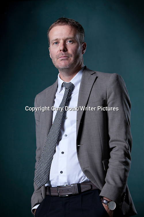 Tom McCarthy, the English novelist, writer, and Man Booker Prize Nominee, at the Edinburgh International Book Festival 2015.<br /> Edinburgh. 30th August 2015<br /> <br /> Photograph by Gary Doak/Writer Pictures<br /> <br /> WORLD RIGHTS