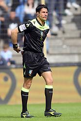 """Foto Filippo Rubin<br /> 26/03/2017 Ferrara (Italia)<br /> Sport Calcio<br /> Spal vs Frosinone - Campionato di calcio Serie B ConTe.it 2016/2017 - Stadio """"Paolo Mazza""""<br /> Nella foto: ARBITRO GIANLUCA MANGANIELLO<br /> <br /> Photo Filippo Rubin<br /> March 26, 2017 Ferrara (Italy)<br /> Sport Soccer<br /> Spal vs Frosinone - Italian Football Championship League B ConTe.it 2016/2017 - """"Paolo Mazza"""" Stadium <br /> In the pic:"""