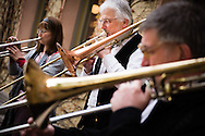 A band performs outside the Town and Parish Church of St. Mary's before the dedication of The International Lutheran Center at the Old Latin School on Sunday, May 3, 2015, in Wittenberg, Germany. LCMS Communications/Erik M. Lunsford