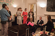 Stefania Pramma launched her handbag brand PRAMMA  at the Kensington residence of her twin sister, art collector Valeria Napoleone.. London.  29 April 2015