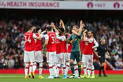 Arsenal players high fives before kick off - Mandatory by-line: Arron Gent/JMP - 22/09/2019 - FOOTBALL - Emirates Stadium - London, England - Arsenal v Aston Villa - Premier League