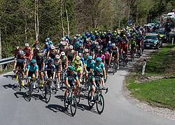22.04.2019, Kufstein, AUT, Tour of the Alps, 1. Etappe, Kufstein - Kufstein, 144km, im Bild // das Peloton at Maria Stein during the 1st Stage of the Tour of the Alps Cyling Race from Kufstein to Kufstein (144km) in in Kufstein, Austria on 2019/04/22. EXPA Pictures © 2019, PhotoCredit: EXPA/ Reinhard Eisenbauer