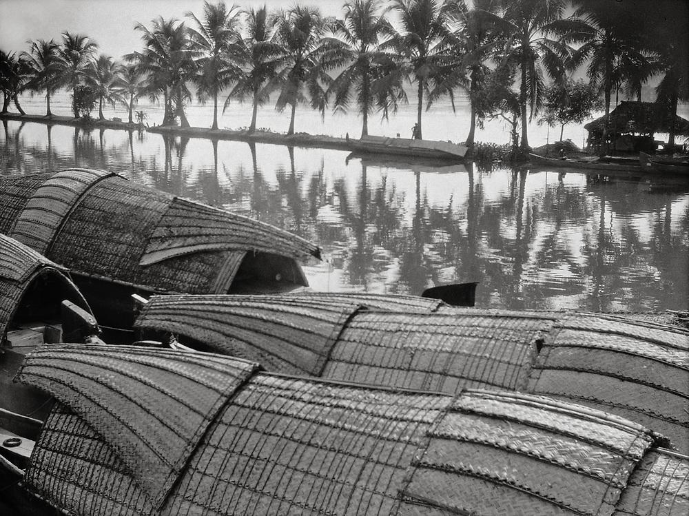 Native Boats, Broken River, India, 1929