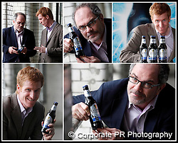 Diageo Ireland announces test of Guinness Black Lager?Guinness Master Brewers, Fergal Murray is pictured here with John Kennedy, Managing Director, Diageo Ireland at the announcement of a test of Guinness Black Lager in Northern Ireland. Guinness Black Lager is a new lager from Diageo Ireland. Black and carbonated, it combines the refreshing taste of lager with a unique great taste. Pic Andres Poveda / CPR..