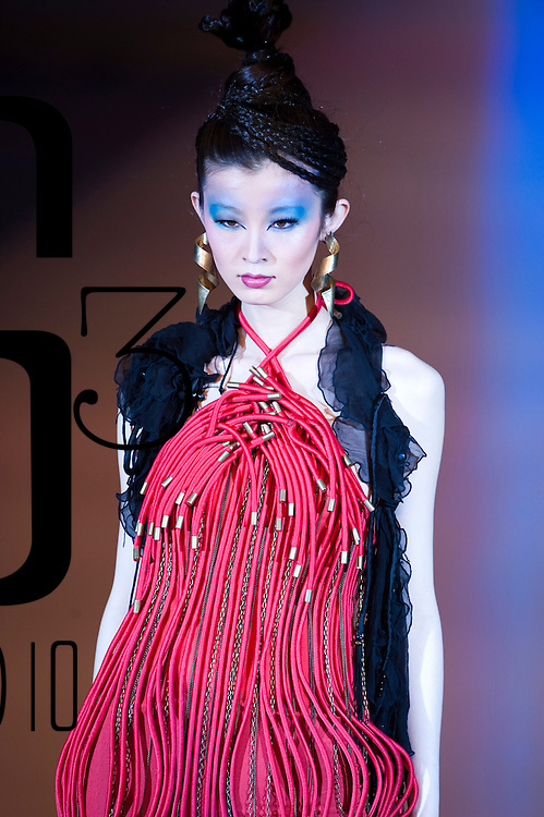HONG KONG - JANUARY 19:  A model showcases designs by Ali Charisma on the catwalk during the La Mer show as part of the  Hong Kong Fashion Week Fall/Winter 2010 on January 19, 2010 in Hong Kong.  Photo by Victor Fraile / studioEAST