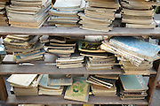 old Japanese books at the flea market in Setagaya Tokyo Japan
