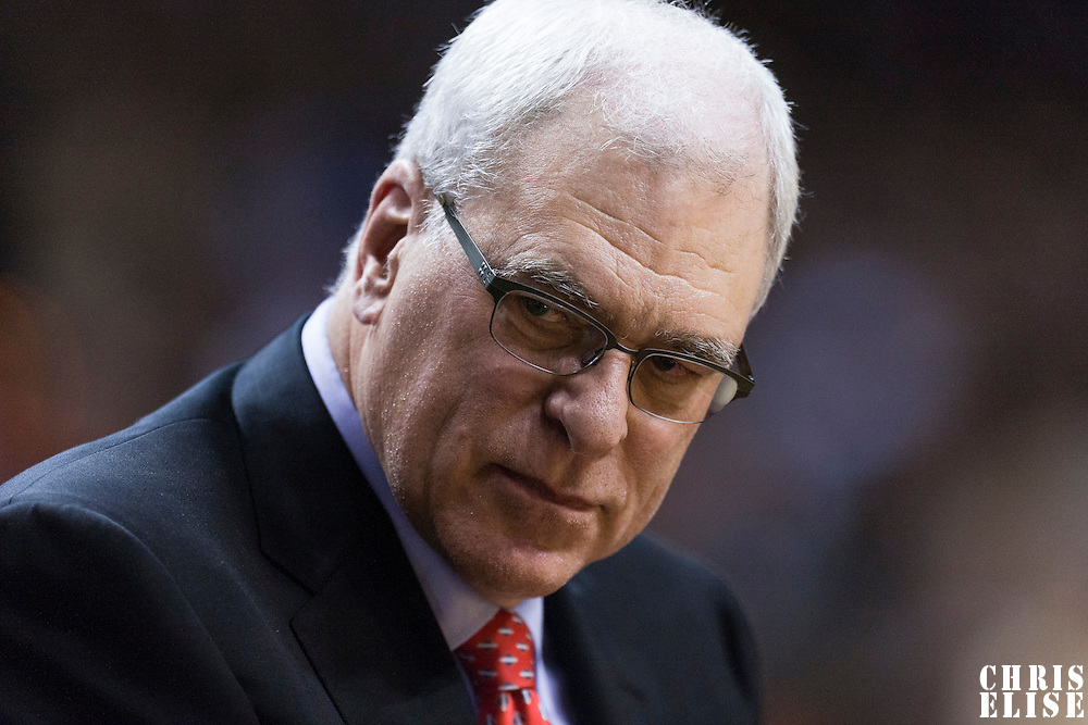 10 March 2011: Los Angeles Lakers head coach Phil Jackson is seen during the Miami Heat 94-88 victory over the Los Angeles Lakers at the AmericanAirlines Arena, Miami, Florida, USA.