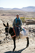 TALIOUINE, MOROCCO - OCTOBER 28TH 2015 - Portrait of a local to Taliouine, Souss Massa Draa, Southern Morocco.