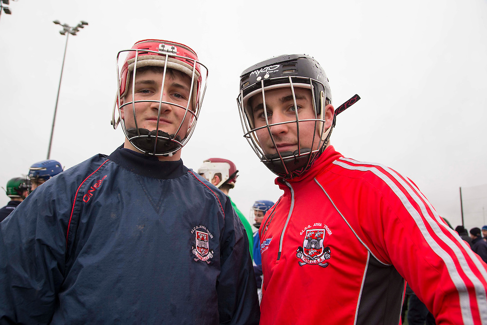 Hurling Coaching Conference at Meath Centre of Excellence, Dunganny, 20th February 2016<br /> Trim hurlers, David Murtagh & Brian Dowling pictured at the Hurling Coaching Conference at Meath Centre of Excellence, Dunganny<br /> Photo: David Mullen /www.cyberimages.net / 2016