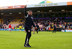 Bristol City head coach Lee Johnson gives a thumbs up to the fans - Mandatory by-line: Robbie Stephenson/JMP - 23/09/2017 - FOOTBALL - Carrow Road - Norwich, England - Norwich City v Bristol City - Sky Bet Championship