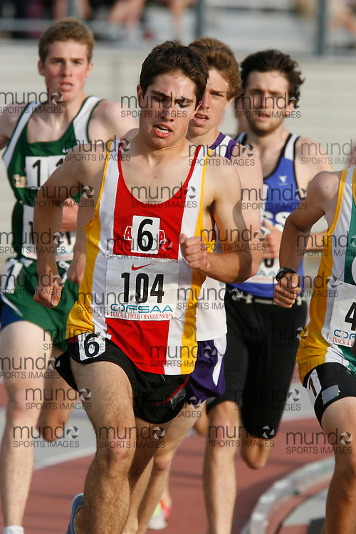 (London, Ontario}---03 June 2010) Rob Denault of Aurora - Aurora competing in the 1500m heats at the 2010 OFSAA Ontario High School Track and Field Championships. Photograph copyright Dave Chidley / Mundo Sport Images, 2010.